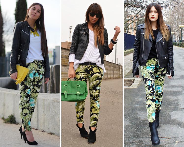 ZARA IS THE NEW BLACK - pantalones flores tropicales de zara 01