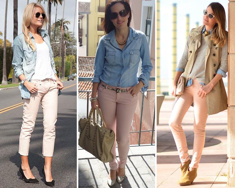 ZARA IS THE NEW BLACK - pantalones pitillos rosa pastel 5