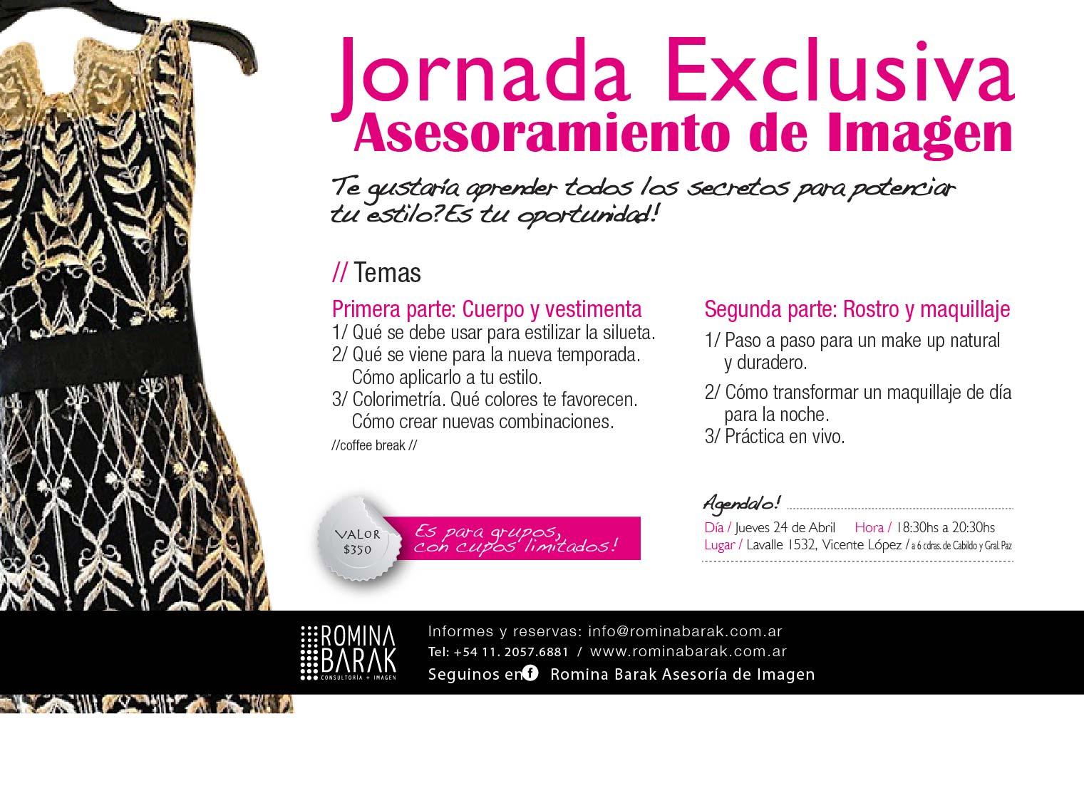 Flyer Jornada Exclusiva - Marzo 2014